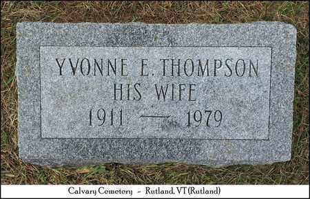 THOMPSON HALPIN, YVONNE E. - Rutland County, Vermont   YVONNE E. THOMPSON HALPIN - Vermont Gravestone Photos