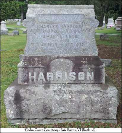 HARRISON, AMANDA - Rutland County, Vermont | AMANDA HARRISON - Vermont Gravestone Photos