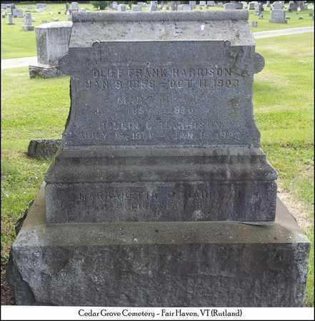 HARRISON, OLIFF FRANK - Rutland County, Vermont | OLIFF FRANK HARRISON - Vermont Gravestone Photos