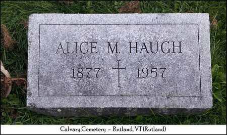 CARMODY HAUGH, ALICE MAY - Rutland County, Vermont   ALICE MAY CARMODY HAUGH - Vermont Gravestone Photos
