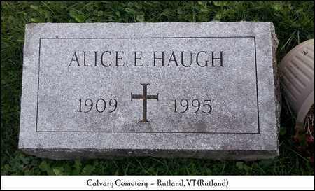 HAUGH, ALICE ELIZABETH - Rutland County, Vermont   ALICE ELIZABETH HAUGH - Vermont Gravestone Photos