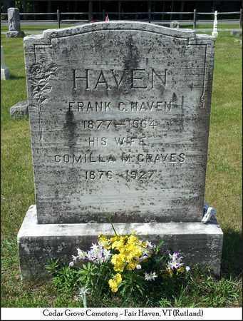 GRAVES HAVEN, COMILLA M. - Rutland County, Vermont | COMILLA M. GRAVES HAVEN - Vermont Gravestone Photos