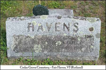 HAVENS, ACLE GORDON - Rutland County, Vermont | ACLE GORDON HAVENS - Vermont Gravestone Photos