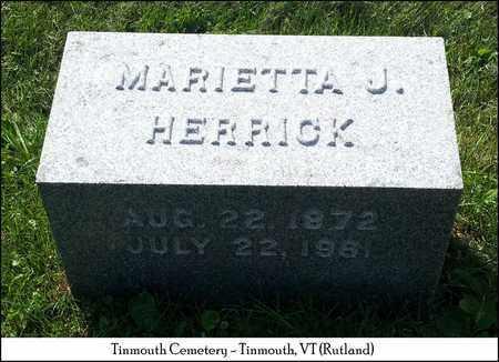 HERRICK, MARIETTA J. - Rutland County, Vermont | MARIETTA J. HERRICK - Vermont Gravestone Photos
