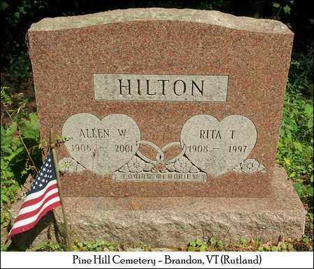 HILTON, ALLEN W. - Rutland County, Vermont | ALLEN W. HILTON - Vermont Gravestone Photos