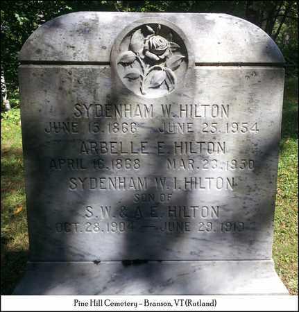 HILTON, SYDENHAM W. I. - Rutland County, Vermont | SYDENHAM W. I. HILTON - Vermont Gravestone Photos
