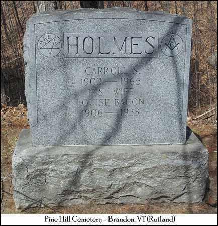 HOLMES, CARROLL S. - Rutland County, Vermont   CARROLL S. HOLMES - Vermont Gravestone Photos