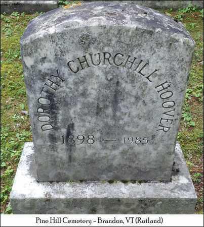 GRIFFITH HOOVER, DOROTHY CHURCHILL - Rutland County, Vermont   DOROTHY CHURCHILL GRIFFITH HOOVER - Vermont Gravestone Photos