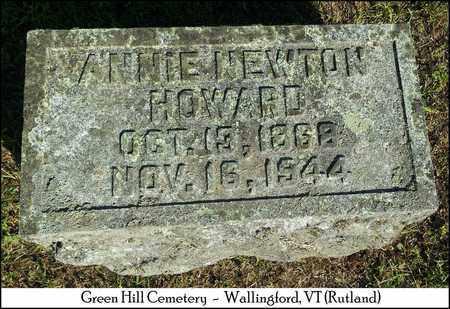 NEWTON HOWARD, ELIZA ANNIE - Rutland County, Vermont | ELIZA ANNIE NEWTON HOWARD - Vermont Gravestone Photos