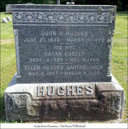 HUGHES, SARAH - Rutland County, Vermont | SARAH HUGHES - Vermont Gravestone Photos