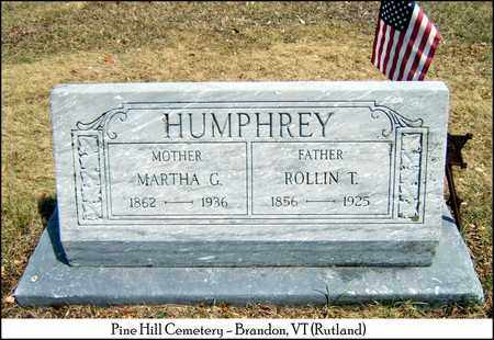 GLASS HUMPHREY, MARTHA ANN - Rutland County, Vermont | MARTHA ANN GLASS HUMPHREY - Vermont Gravestone Photos