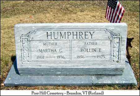 HUMPHREY, ROLLIN THOMAS - Rutland County, Vermont | ROLLIN THOMAS HUMPHREY - Vermont Gravestone Photos
