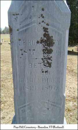 HUMPHREY, BETSEY - Rutland County, Vermont   BETSEY HUMPHREY - Vermont Gravestone Photos