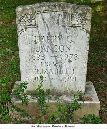 JANSON, ELIZABETH - Rutland County, Vermont | ELIZABETH JANSON - Vermont Gravestone Photos