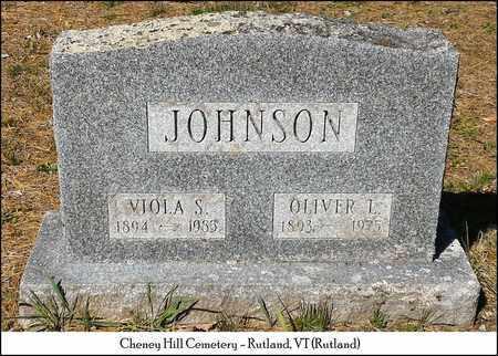 JOHNSON, OLIVER L. - Rutland County, Vermont | OLIVER L. JOHNSON - Vermont Gravestone Photos