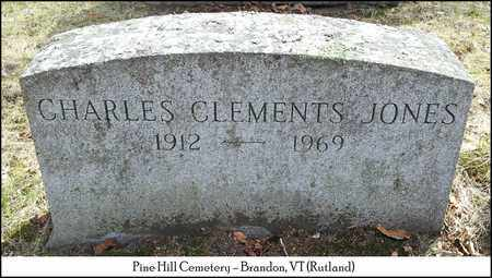 JONES, CHARLES CLEMENTS - Rutland County, Vermont   CHARLES CLEMENTS JONES - Vermont Gravestone Photos
