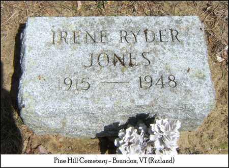 RYDER JONES, IRENE GRACE - Rutland County, Vermont | IRENE GRACE RYDER JONES - Vermont Gravestone Photos
