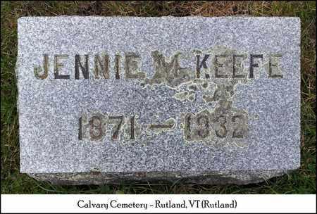 KEEFE, JENNIE M. - Rutland County, Vermont | JENNIE M. KEEFE - Vermont Gravestone Photos