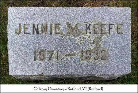 PATTERSON KEEFE, JENNIE M. - Rutland County, Vermont | JENNIE M. PATTERSON KEEFE - Vermont Gravestone Photos