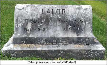 LALOR, THOMAS J. - Rutland County, Vermont   THOMAS J. LALOR - Vermont Gravestone Photos