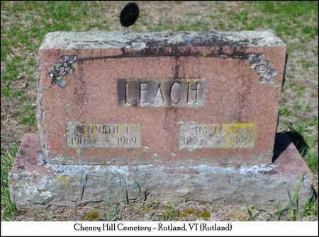 LEACH, HAZEL - Rutland County, Vermont | HAZEL LEACH - Vermont Gravestone Photos