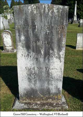 LEONARD, SIMEON - Rutland County, Vermont | SIMEON LEONARD - Vermont Gravestone Photos