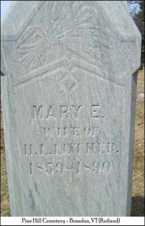 LUTHER, MARY E. - Rutland County, Vermont | MARY E. LUTHER - Vermont Gravestone Photos