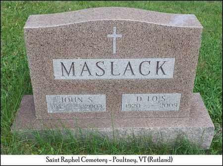 MASLACK, JOHN S. - Rutland County, Vermont | JOHN S. MASLACK - Vermont Gravestone Photos