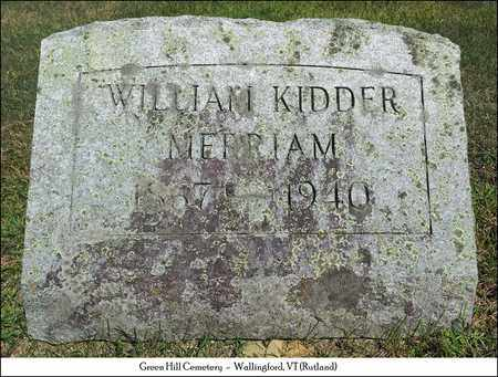 MERRIAM, WILLIAM KIDDER - Rutland County, Vermont | WILLIAM KIDDER MERRIAM - Vermont Gravestone Photos