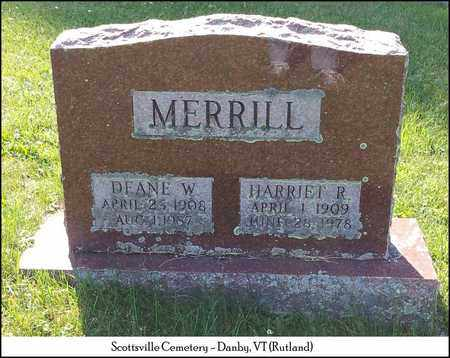 MERRILL, HARRIET R. - Rutland County, Vermont | HARRIET R. MERRILL - Vermont Gravestone Photos