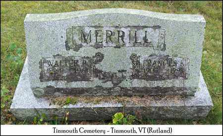 MERRILL, WALTER P. - Rutland County, Vermont | WALTER P. MERRILL - Vermont Gravestone Photos