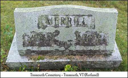 MERRILL, FRANCES K. - Rutland County, Vermont | FRANCES K. MERRILL - Vermont Gravestone Photos