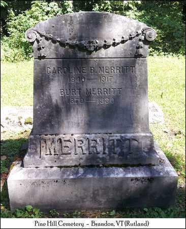 MERRITT, BURT - Rutland County, Vermont | BURT MERRITT - Vermont Gravestone Photos