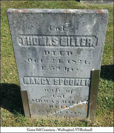 SPOONER MILLER, NANCY - Rutland County, Vermont | NANCY SPOONER MILLER - Vermont Gravestone Photos