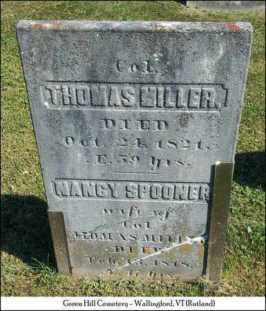 MILLER (VETERAN), COL. THOMAS - Rutland County, Vermont | COL. THOMAS MILLER (VETERAN) - Vermont Gravestone Photos