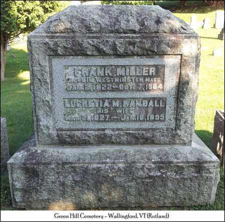 RANDALL MILLER, LUCRETIA M. - Rutland County, Vermont | LUCRETIA M. RANDALL MILLER - Vermont Gravestone Photos