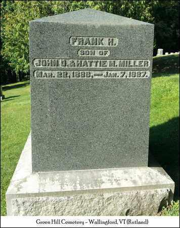 MILLER, FRANK H. - Rutland County, Vermont | FRANK H. MILLER - Vermont Gravestone Photos