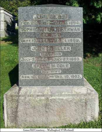 COLE MILLER, HATTIE M. - Rutland County, Vermont | HATTIE M. COLE MILLER - Vermont Gravestone Photos