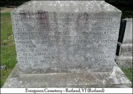 MOORE, WILLIAM FRANKLIN - Rutland County, Vermont | WILLIAM FRANKLIN MOORE - Vermont Gravestone Photos