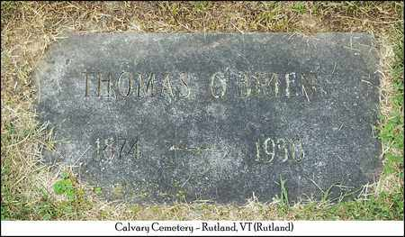 O'BRIEN, THOMAS - Rutland County, Vermont | THOMAS O'BRIEN - Vermont Gravestone Photos