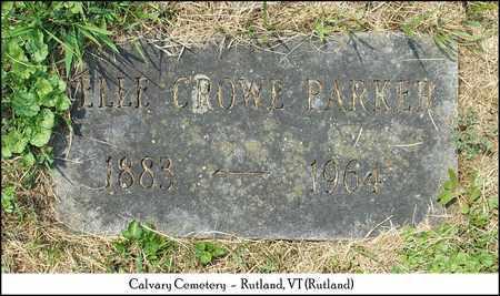 CROWE PARKER, NELLE - Rutland County, Vermont | NELLE CROWE PARKER - Vermont Gravestone Photos