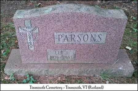 PARSON, LEE J. - Rutland County, Vermont   LEE J. PARSON - Vermont Gravestone Photos