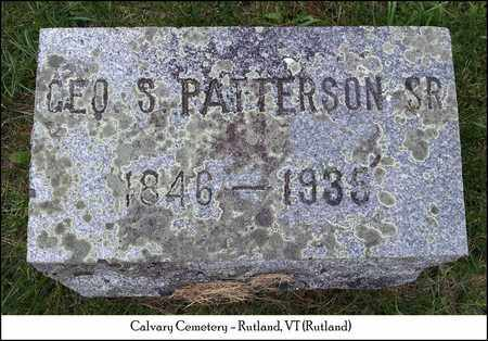 PATTERSON, GEORGE S. - Rutland County, Vermont | GEORGE S. PATTERSON - Vermont Gravestone Photos