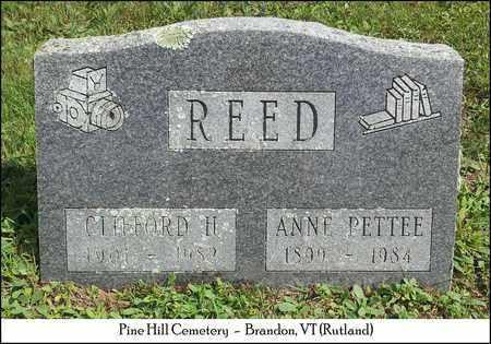 PETTEE REED, ANNA - Rutland County, Vermont | ANNA PETTEE REED - Vermont Gravestone Photos