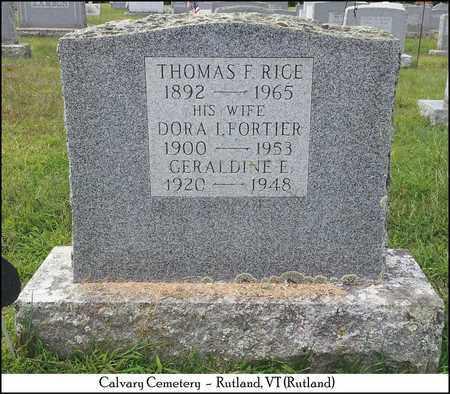 RICE, GERALDINE E. - Rutland County, Vermont | GERALDINE E. RICE - Vermont Gravestone Photos