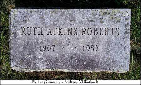ROBERTS, RUTH - Rutland County, Vermont   RUTH ROBERTS - Vermont Gravestone Photos