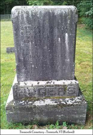 HARRINGTON ROGERS, MAHALA - Rutland County, Vermont | MAHALA HARRINGTON ROGERS - Vermont Gravestone Photos