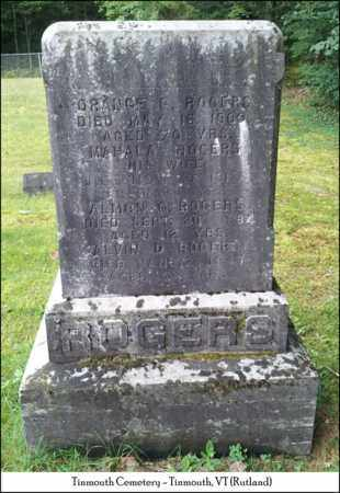 ROGERS, ALVIN D. - Rutland County, Vermont | ALVIN D. ROGERS - Vermont Gravestone Photos