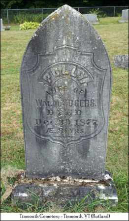 ROGERS, POLLY - Rutland County, Vermont | POLLY ROGERS - Vermont Gravestone Photos