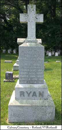 RYAN, MARY - Rutland County, Vermont   MARY RYAN - Vermont Gravestone Photos